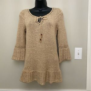 NoMI Loose Knit and Crochet Sweater
